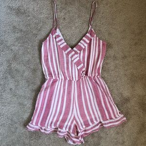 NWOT Tularosa Revolve Amelia Shorts Striped Romper